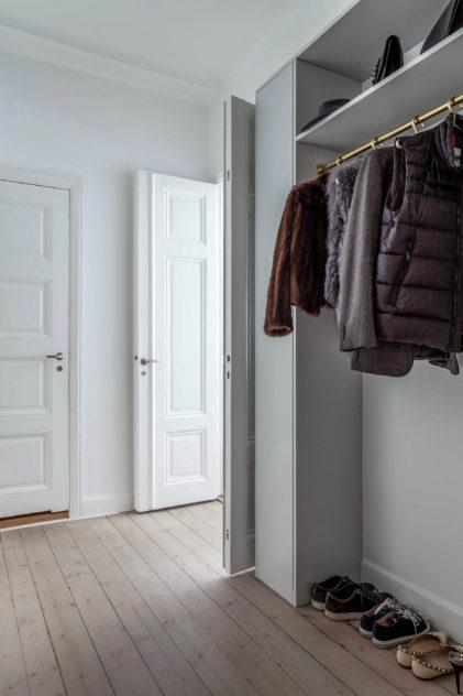 Garderob i hall
