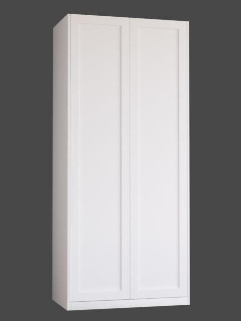 Shaker P1 (med 1st spegel) till Pax garderob. Monterade på Pax stomme 100x236 cm med täcksidor och sockel.