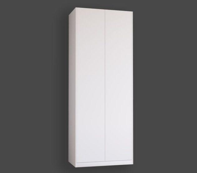 Släta garderobsdörrar till Pax. Monterade med täcksidor och sockel på 100x236 cm stomme.