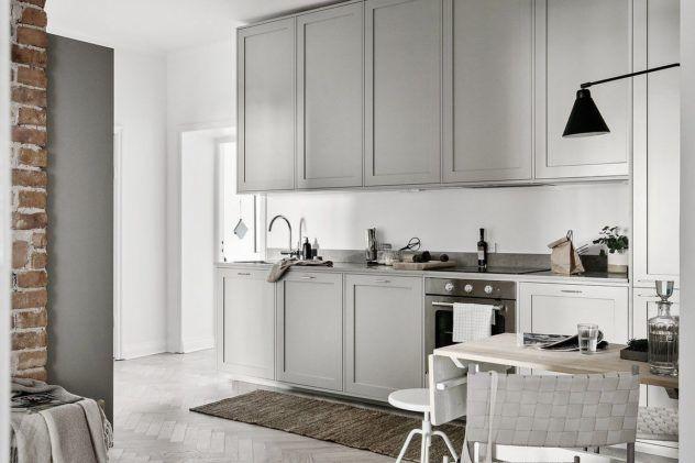 Köksluckor gråa